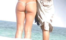 Small bikini ass grinding cock